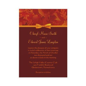 Autumn Wedding Invitations - Fall Leaves from Zazzle.com