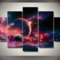 Distant Planets 5-Piece Wall Art Canvas