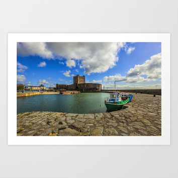 Old Carrickfergus Art Print by Peaky40