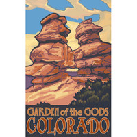 Garden Of The Gods Colorado Wood Sign