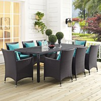 "Convene 82"" Outdoor Patio Dining Table"