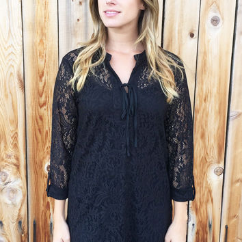 Sweet Lace Tunic Top-4 Colors!