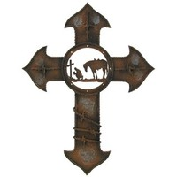 Brown Cowboy Praying Metal Cross | Shop Hobby Lobby