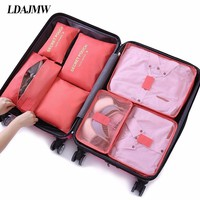 7Pcs/set Trip Luggage Polyester Portable Travel Organizer