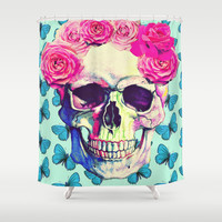 love skull Shower Curtain by Ilola