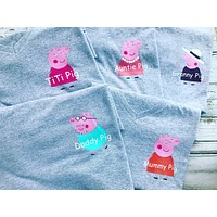 Peppa Pig family shirts