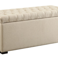 Ave Six Sahara Tufted Storage Bench (Linen Fabric)