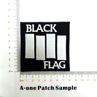 BLACK FLAG Sew Iron-On Embroidered Patch... Metal, Punk, Band Logo
