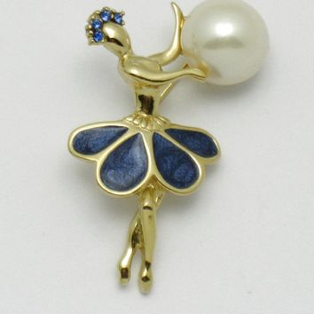 TRIFARI Vintage Petalette Ballerina Dancer Brooch Pin