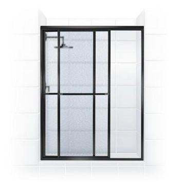 Coastal Shower Doors Paragon Series 50 in. x 66 in. Framed Sliding Shower Door with Towel Bar in Oil Rubbed Bronze and Obscure Glass-1850.66ORB-A - The Home Depot