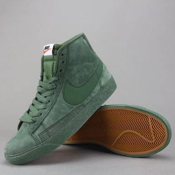 Nike Blazer Mid Suede Vntg Women Men Fashion Casual Old Skool High-Top Shoes-9