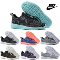 Nike Roshe Run Kjcrd Running Shoes Men Women 2016 High Quality Authentic RosheRun Sneakers Cheap Black Green Mesh Sports Shoes Size 36-44
