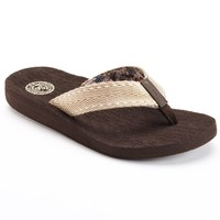 SO Women's Woven Flip-Flops
