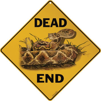 Rattlesnake Dead End Aluminum Sign