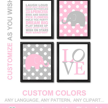 girls playroom rules polka dot elephant nursery baby girl nursery pink grey girls room decor toddlers prints girl wall art playroom decor