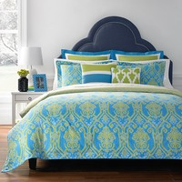 Happy Chic by Jonathan Adler Claire 3-pc. Reversible Comforter Set - Full / Queen (Blue)
