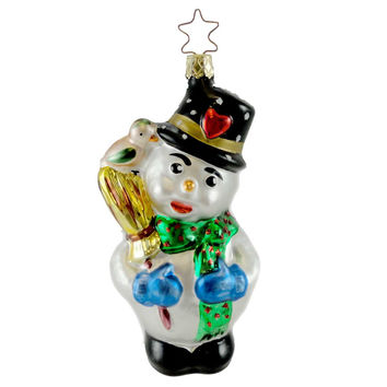 Old World Christmas GRANDFATHER'S SNOWMAN Glass Ornament Holiday Frosty 134