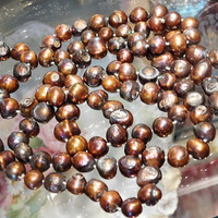 """Dyed Freshwater Pearl Necklace Fresh Water Pearl Necklace Opera Rope Length 48"""" Strand Necklace Hand Strung and Knotted 4 Feet Beads Beaded"""