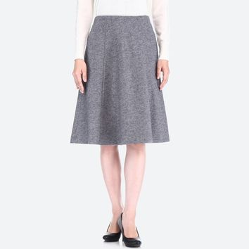 WOMEN WOOL-BLENDED JERSEY VOLUME SKIRT