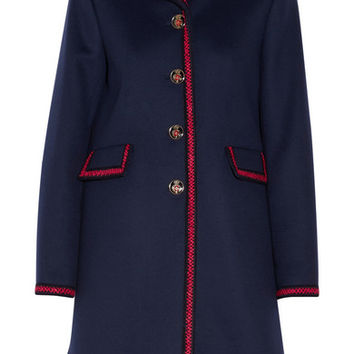 Gucci - Embroidered wool coat
