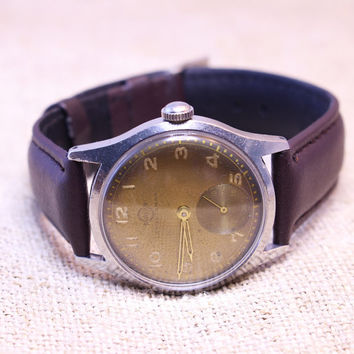 Vintage Svalan Sportsman mens watch stainless steel case swiss watch
