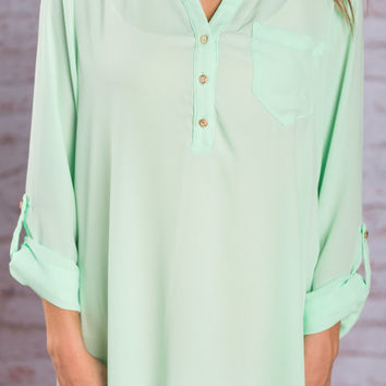 Work It Blouse, Mint