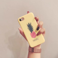 Cute Pineapple Print Iphone X 8 8 Plus 7 7 Plus 5 5S SE 6 6s Plus Cover Case