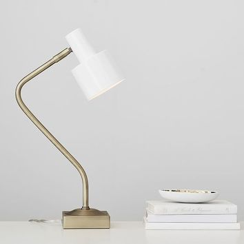 Gold Two-Toned Task Lamp