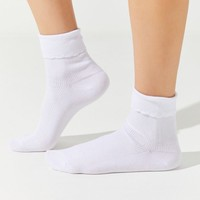 UO Scallop Trim Crew Sock | Urban Outfitters