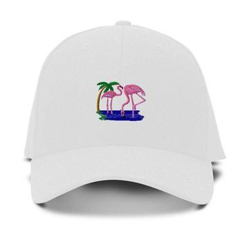 Pink Flamingo Dad Hat