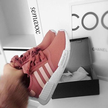 Adidas NMD Pink Sneakers / Nike Long Sleeve Cropped Sweatshirt
