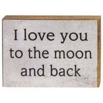 Love You to the Moon - Block