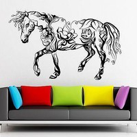 Wall Sticker Vinyl Decal Horse Animal Beautiful Abstract Decor Room Unique Gift (ig2189)