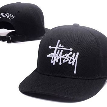 ESBONPR Fashion Stussy Embroidered Cotton Baseball Cap Hats In Three Colors