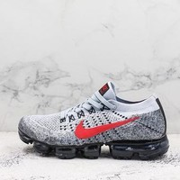 Nike Air Vapormax 2 Flyknit Grey Red Black Running Shoes