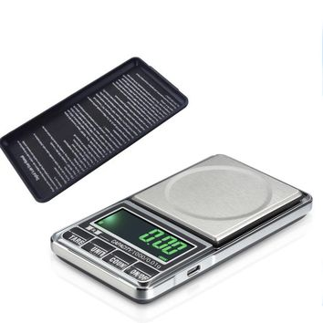 Accurate Jewelry Scales Weigh Digital LCD Display Electronic Pocket Scale 1000 0.1G USB Charge Kitchen Scales