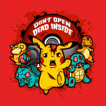 Walking Dead Pikachu Mashup T-Shirt