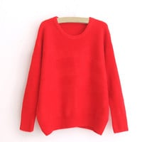 Red Casual Sweatshirt