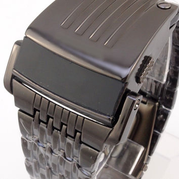 LED Men Stainless Steel Watch Digital Watch [6542557059]