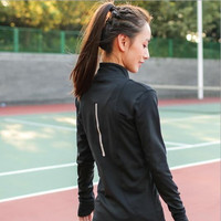 Sports Autumn Casual Fitness Workout Quick Dry Jacket [8967583046]