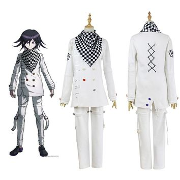 Anime Danganronpa V3 Killing Harmony Ouma kokichi White Evening Suit Custom Cosplay Costume Japanese Game School Uniform Outfit