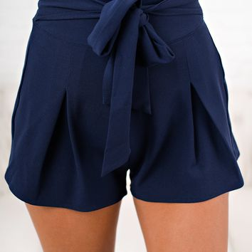The New Me Jersey Shorts (Navy)