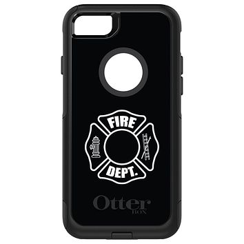 DistinctInk™ OtterBox Commuter Series Case for Apple iPhone or Samsung Galaxy - White Fire Department
