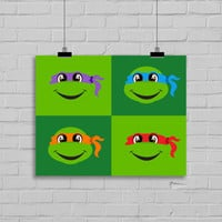 TMNT Art Print - Toddler Room Decor - Children's Wall Art - Toddler Art