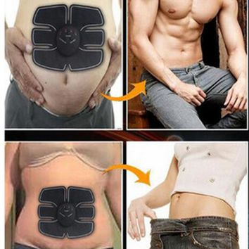 Smart EMS Electric Pulse Abdominal Muscle Trainer Wireless Muscle Stimulator Machine Unisex Fitness Equipment For