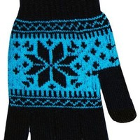 Boss Tech Products, Inc. BTP-GLV-BLUSNW Cashmere Knit Touch Screen Glove with Conductive Fingertips