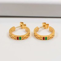 Gucci New Arrival Ear Studs With Semicircle Letters Earrings