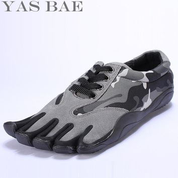 Sale Yas Bae Design Rubber with Five Fingers Outdoor Slip Resistant Breathable Lightweight Camouflage Sneakers Shoes for Men