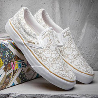 Trendsetter VANS Print Old Skool Canvas Flat Sneakers Sport Shoes