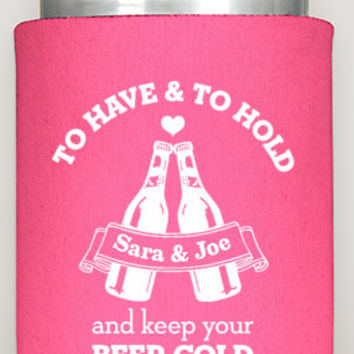 Wedding Coozies, custom gifts for guests, wedding favors, summer wedding, custom koozies, personalized coozies, keep your beer cold, koozies